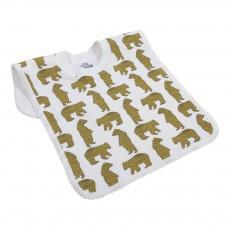 Bavoir encolure t-shirt motif ours Jaune moutarde