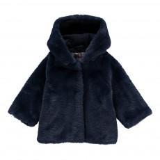 Manteau Façon Fourrure Bébé Bleu marine