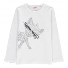 T-Shirt Chat Blanc