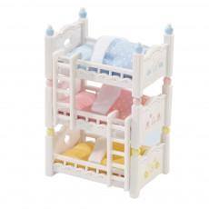 Lits superposés à 3 couchettes bébés Multicolore