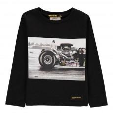 T-Shirt Voiture Course Longjohn Noir