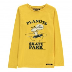 T-Shirt Snoopy Skateur Longjohn Jaune