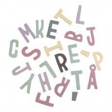 Set de lettres magnétiques en bois fille Multicolore