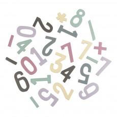 Set de chiffres magnétiques en bois fille Multicolore
