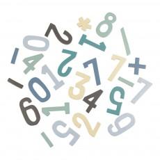 Set de chiffres magnétiques en bois garçon Bleu