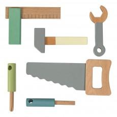 Set de 6 outils en bois Multicolore