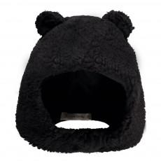 Bonnet Façon Fourrure Alf Noir