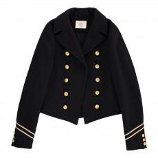 Veste Officier Laine Amelie Bleu marine