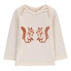 T-Shirt Coton Bio Ecureuils Ecru