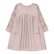 Robe Broderies Madeline Rose poudré