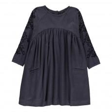 Robe Broderies Madeline Bleu marine