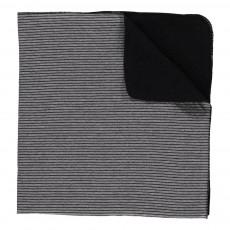 Couverture Rayée Tula Noir