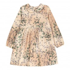Robe Col Claudine Fleurs Vert