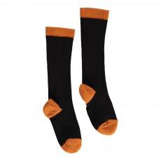Chaussettes Bicolores Coton Cachemire Noir