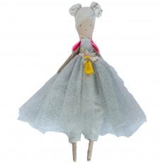 Poupée Little sister en lin habillée Multicolore