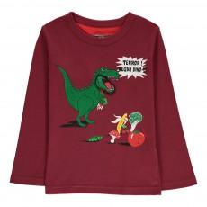 T-Shirt Dinosaure Tom Bordeaux