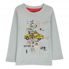 T-Shirt Taxi Tom Gris