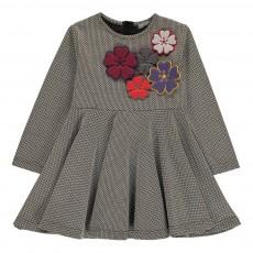 Robe Fleurs Dorothy Gris