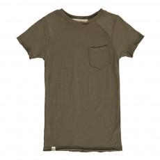 T-Shirt Col Rond Sage Pocket Vert kaki