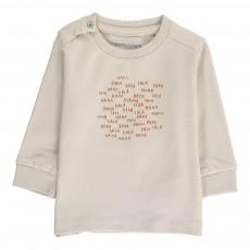 T-Shirt Ecritures Coton Bio Gris clair