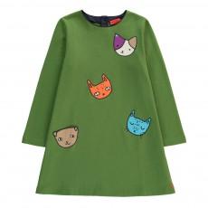 Robe Têtes Chats Vert
