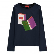 T-shirt Livres Bleu nuit