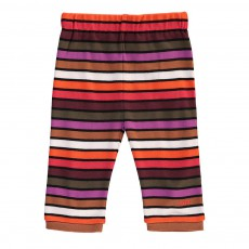 Pantalon Jersey Rayé Multicolore