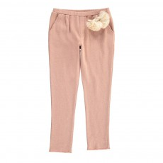 Jogger Maille Pompon Paguro Rose
