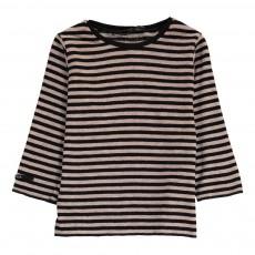 T-Shirt Laine Rayé Millo Noir