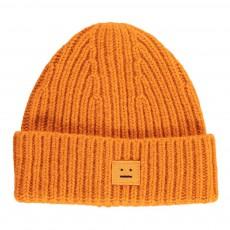 Bonnet Laine Côtelé Mini Pansy Orange