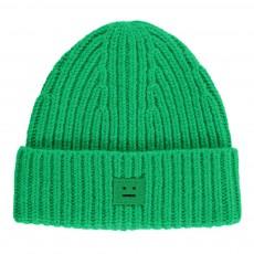 Bonnet Laine Côtelé Mini Pansy Vert