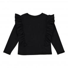 T-Shirt Volants Erina Noir