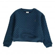 Sweat Pois Matelassés Touchy Feely Bleu indigo