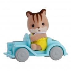 Valisette Bébé écureuil et voiture Multicolore