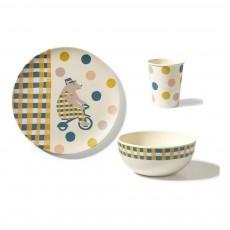 Set vaisselle Cirque en bambou Multicolore