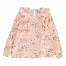 Blouse Volants Cœurs Chrissy Rose pâle
