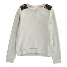 Sweat Empiècements Etoiles Solly Gris