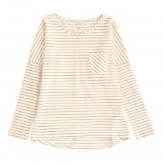 T-Shirt  Rayé Lurex Tessy Ecru