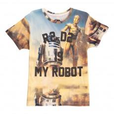 T-Shirt Oversize R2D2 Is My Robot Famnerd Bleu