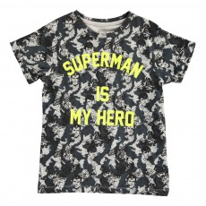 T-Shirt Oversize Superman Is My Hero Famguard Gris