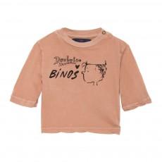 T-Shirt Linus Octopus Beige rosé
