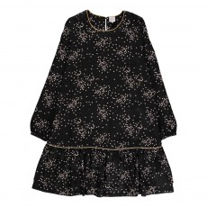 Robe Cœurs Façon-Soie Renaty Noir