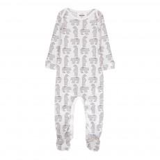 Pyjama à Pieds Ours Bobo Blanc