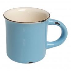 Mug en céramique style émail Bleu