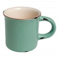 Mug en céramique style émail Vert
