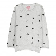 Sweat Cœurs Love Arrow Gris chiné
