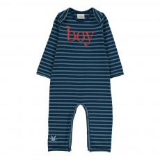 """Combinaison Rayée """"Boy"""" Bleu"""