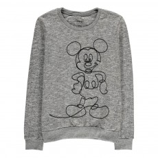 Sweat Mickey Brodé Bromick Gris chiné