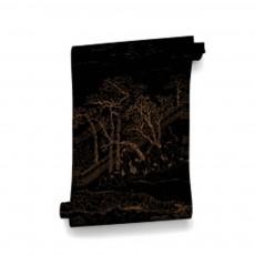 Papier-peint Coromandel 340x280 cm - 4 lés Noir