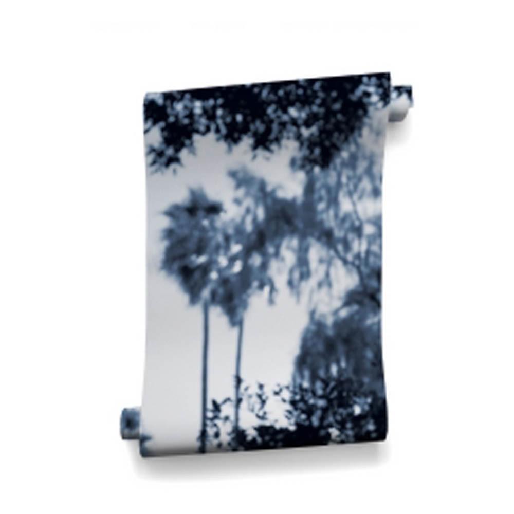 papier peint palermo 364x280 cm 4 l s bleu bien fait. Black Bedroom Furniture Sets. Home Design Ideas